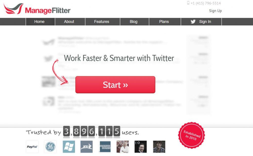 マネージフリッター(ManageFlitter)で片思いのフォローワーを整理しましょう。